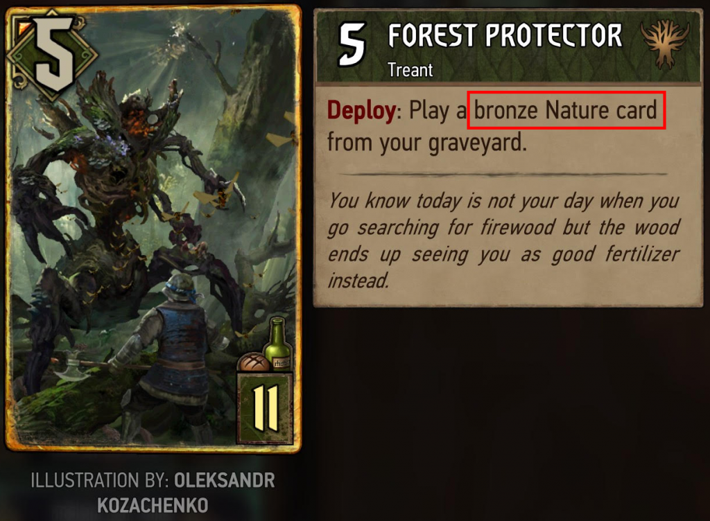 Forest Protector Gwent Card